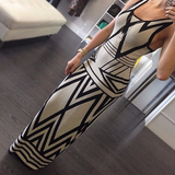 Sweet Slim Striped Sleeveless Dress