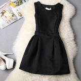 Slim Lace Sleeveless Vest Mini Dress