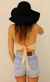 Sweet bow strap vest shirt