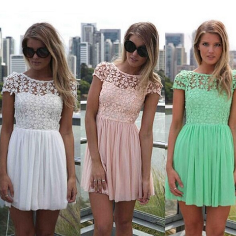 3c2dac7e4014 ... Mint Green Women Summer Bandage Bodycon Lace Evening Sexy Party  Cocktail MINI Dress ...
