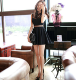 Design Round Neck Black Sleeveless Dress