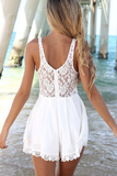 Design Lace Stitching Halter Piece Pants