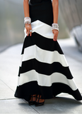 Design Round Neck Striped Sleeveless Dress