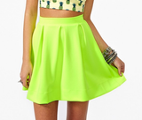 Design Fluorescent Green Half-Length Skirt
