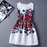 Fashion Sleeveless Vest Printed Dress
