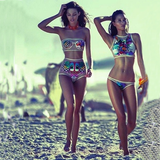 leisure split Printing two-piece beach bikini
