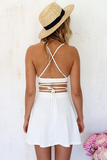 SEXY SLING TWO-PIECE HALTER DRESS