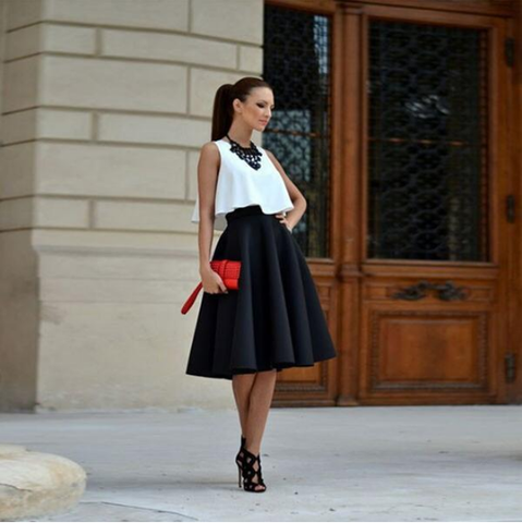 Cute solid color skirts