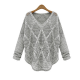 LOOSE BAT SLEEVE LONG-SLEEVED KNIT SWEATER