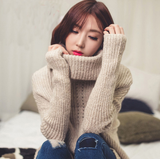 Fashion high-necked long-sleeved sweater