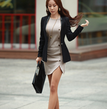 ROUND NECK LONG-SLEEVED PACKAGE HIP DRESS
