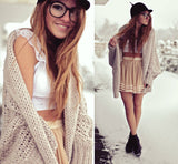 FASHION LOOSE KNIT CARDIGAN JACKET