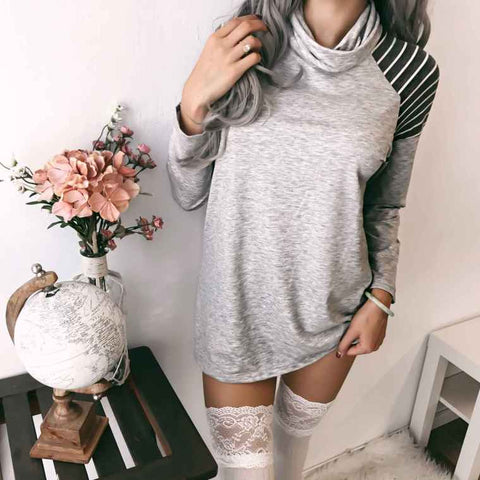 Fashion Striped Long-Sleeved Sweater
