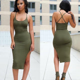 Sexy Sleeveless Halter Dress