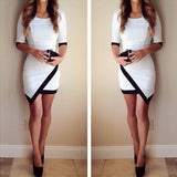 Sexy Slim Round Neck Short Sleeve Vest Dress