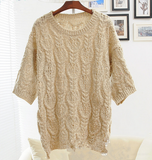 Fashion Round Neck Knit Sweater