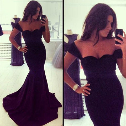 Fashion Sexy Black Deep V Dress