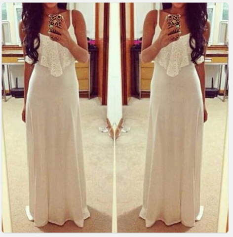 Fashion Lace Vest Harness Dress