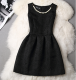 Beautiful Slim Round Neck Sleeveless Dress Princess