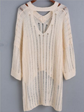 Loose V-Neck Long-Sleeved Knit Sweater