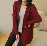 Loose Long-Sleeved Cardigan Coat