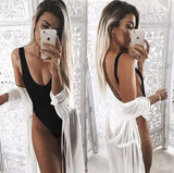 Backless Jumpsuit deep V beach one-piece