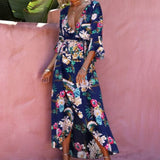 2018 New Printed Dress Beach Long Dress Female