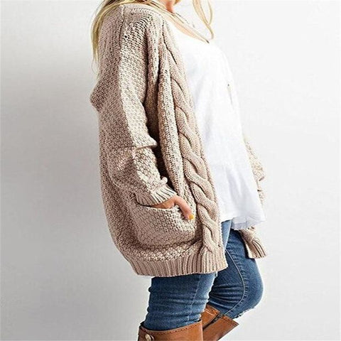 Knitwear Long Sleeve Cardigan Sweaters With Pocket Outerwear