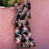 New Printed Dress Beach Long Dress Female
