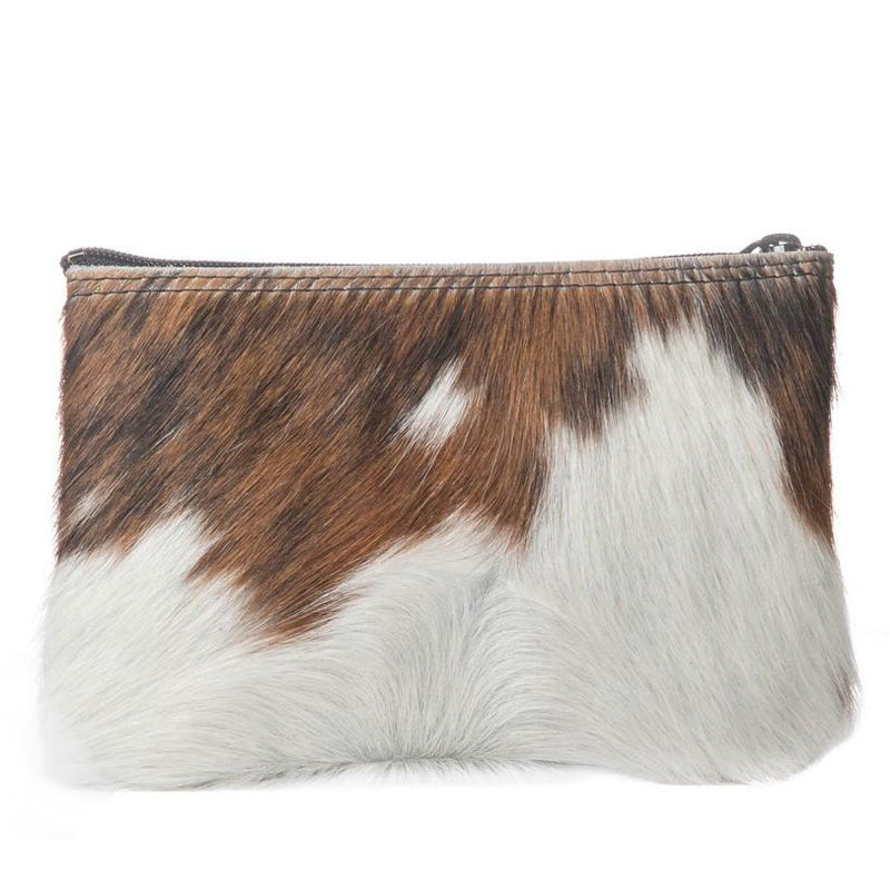 Large Zipper Hair-On Pouch