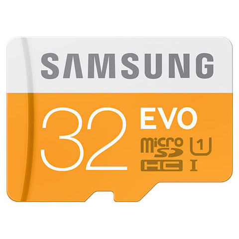 Samsung Evo 32 GB MicroSDHC Class 10 48 MB/s Memory Card - Pack Of 2 - TKM Deals