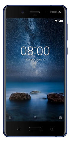 Nokia 8 (Tempered Blue, 64 GB)  (4 GB RAM)