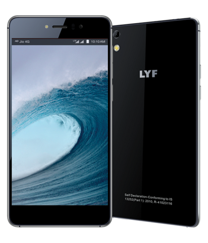 LYF Water 8 LS-5015 (3GB, Black)