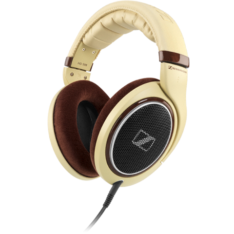 Sennheiser HD 598 Over-Ear Headphone (Light Brown) - TKM Deals