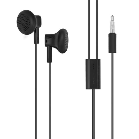 Microsoft Nokia 3.5mm WH-108 Stereo Earphones Handsfree With Mic - Black - TKM Deals