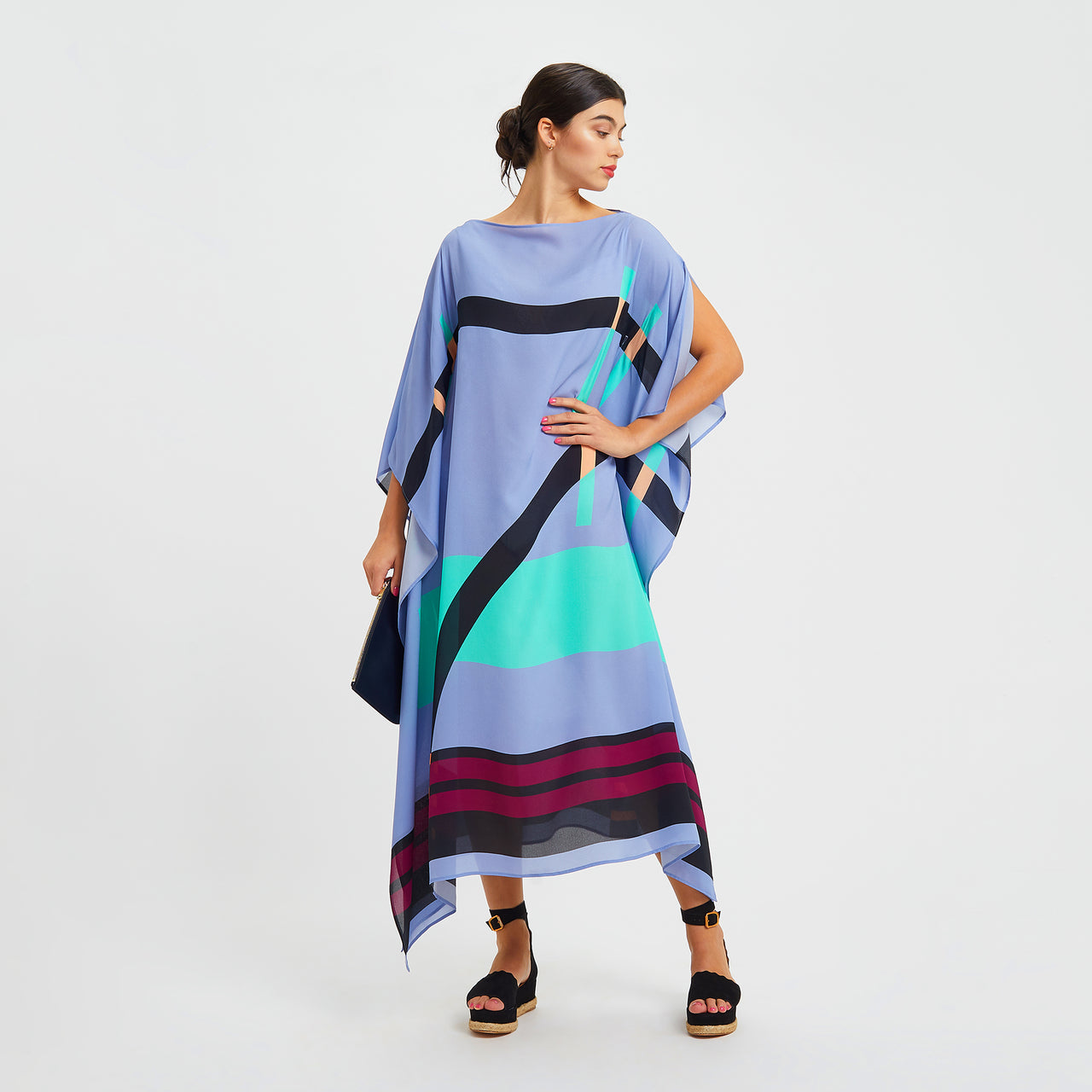 Pompe Long Scarf Dress