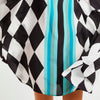 Harlequin Short Scarf Dress