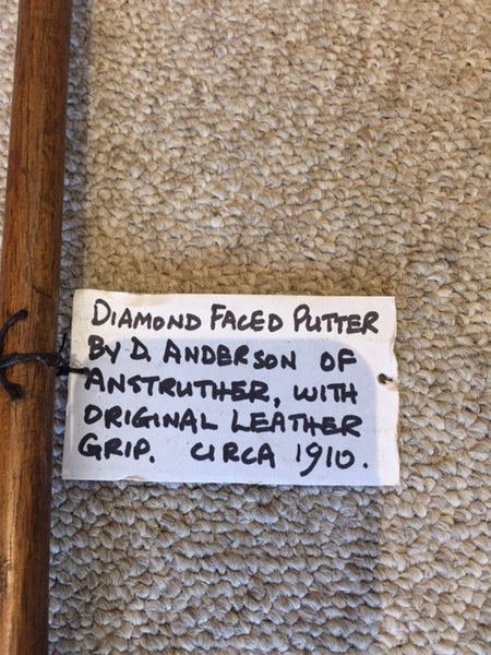 Diamond Faced Putter: Circa 1910