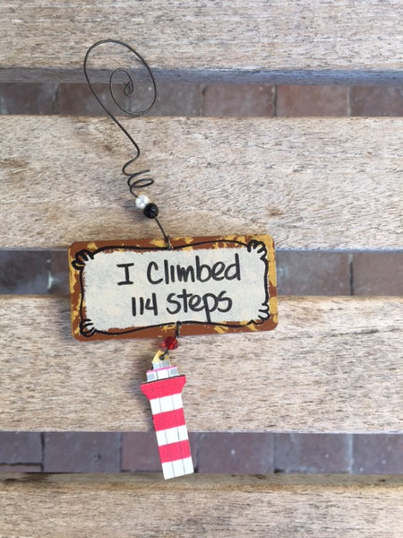 I Climbed 114 Steps Ornament