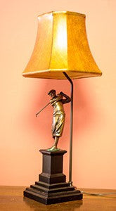 Right Handed Golfer Lamp