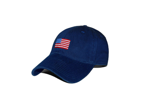 American Flag Needlepoint Hat (Navy)
