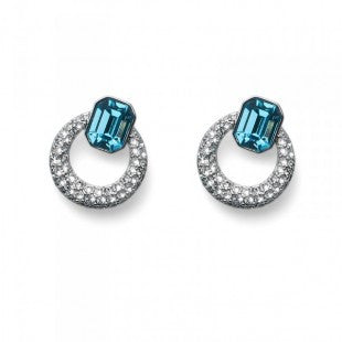 Earring Chill rhod. aqua