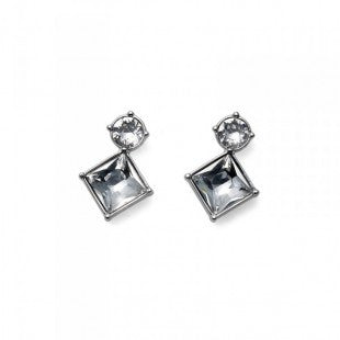 Earring Graceful rhod. crystal