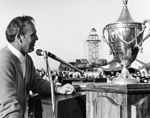 Arnold Palmer with Winning Trophy 1969