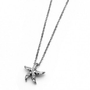 Pendant Sea Starfish rhod. crystal