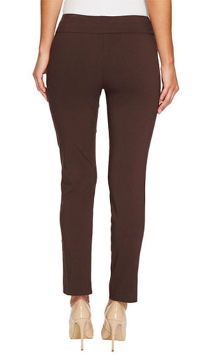 Krazy Larry Women's Pull On Ankle Pants Brown