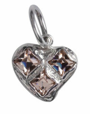 Waxing Poetic Women's Bright Heart Silver Heart Charm BHRT2SS