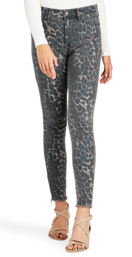 Sam Edelman The Stiletto High Rise Skinny Jeans Sahara Leopard