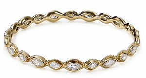 Melinda Maria Gwyneth Gold Bangle White CZ