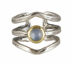 Waxing Poetic Women's Periphery Moonstone Triple Ring